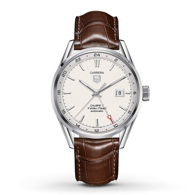 TAG Heuer Men's Watch CARRERA Twin-Time WAR2011. FC6291- Men's Watches