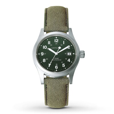 Jared Hamilton Men's Watch Khaki Officer H69419363- Men's Watches
