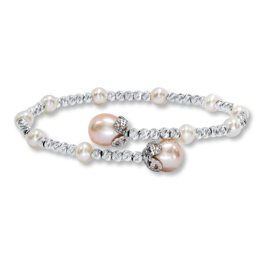 Jared Cultured Pearl Bracelet Sterling Silver