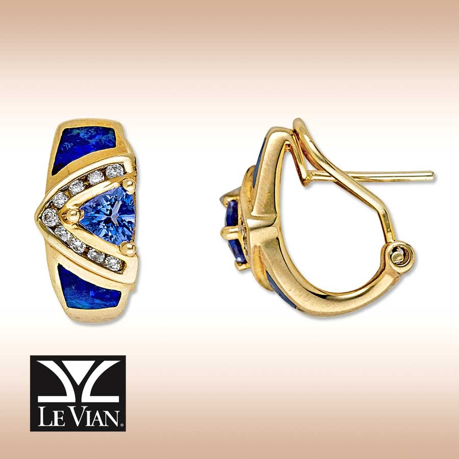 earrings tanzanite in kay strawberry levian vian l cttw diamonds chocolate le bluberry