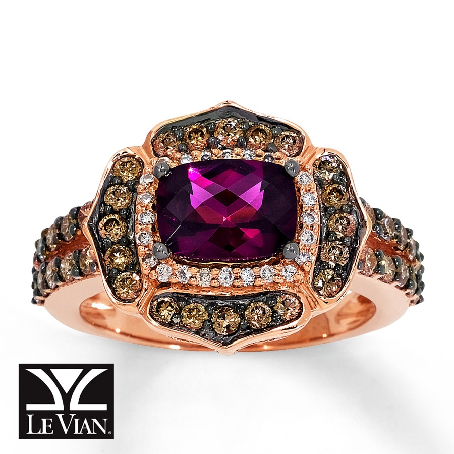 diamonds rose rings ring garnet gold rhodolite in with