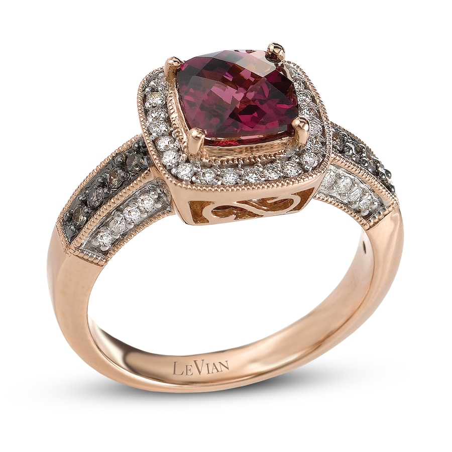 diamond chocolate w ct garnet picture rings levian raspberry of rhodolite