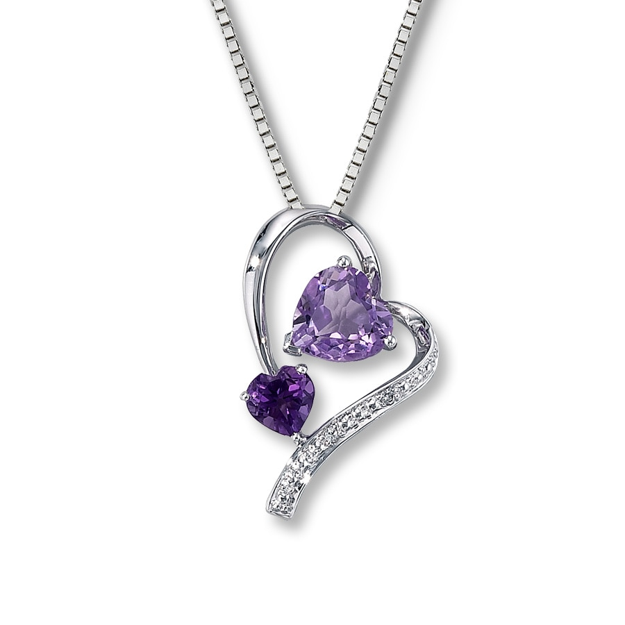 jewellery white d jones ernest product and pendant amethyst necklace webstore number gold