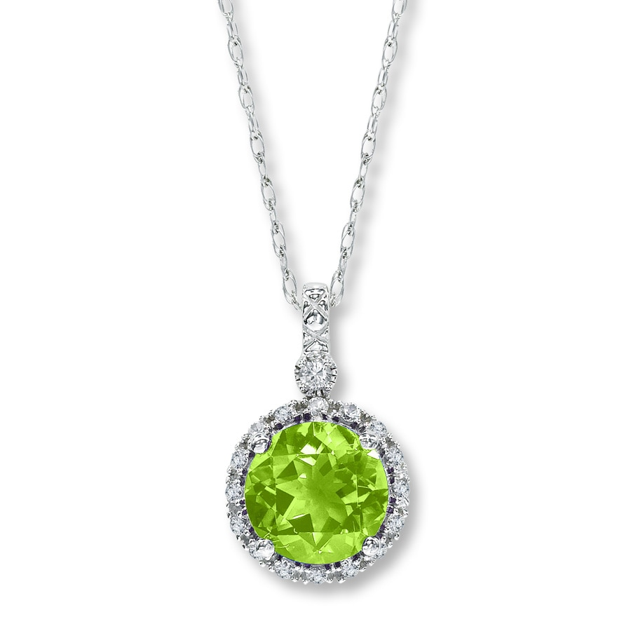 necklace diamond peridot stone n p y products necklance round