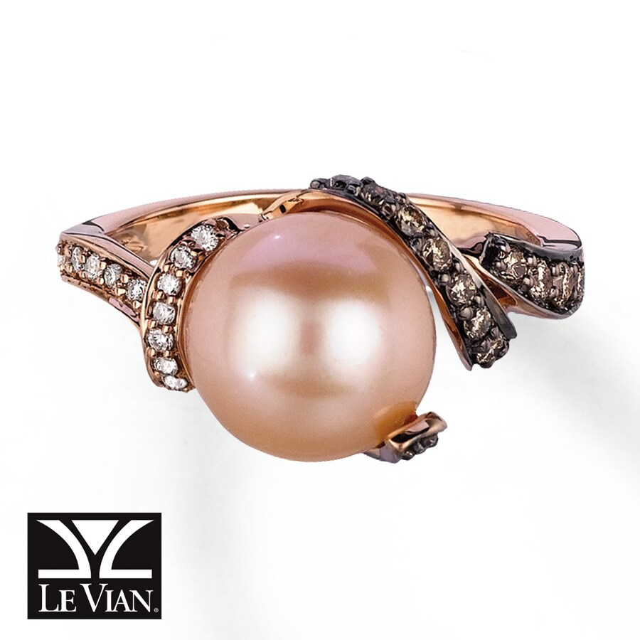 Jared Le Vian Cultured Pearl 13 ct tw Diamonds 14K Gold Ring
