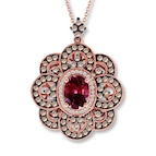 Le Vian Rhodolite Garnet 7/8 ct tw Diamonds 14K Gold Necklace