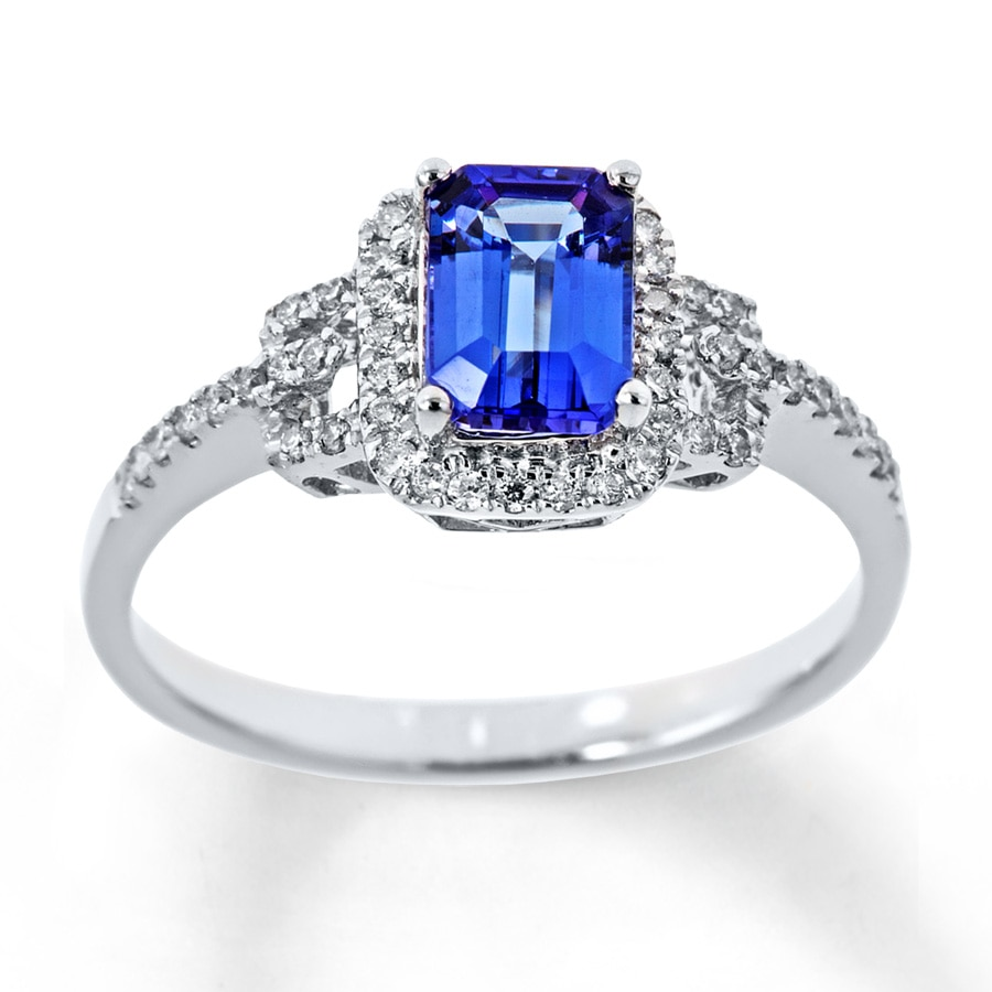 jared tanzanite ring 1 5 ct tw diamonds 14k white gold