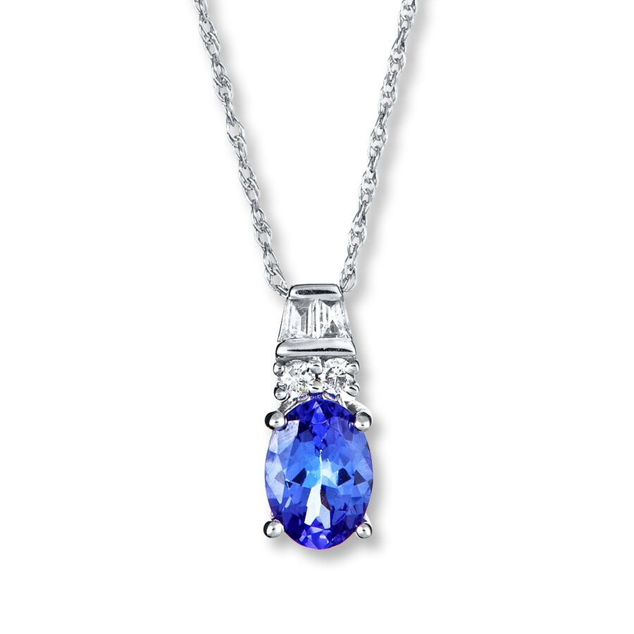 round tanzanite in pendant m trillion necklaces co diamond and shane p