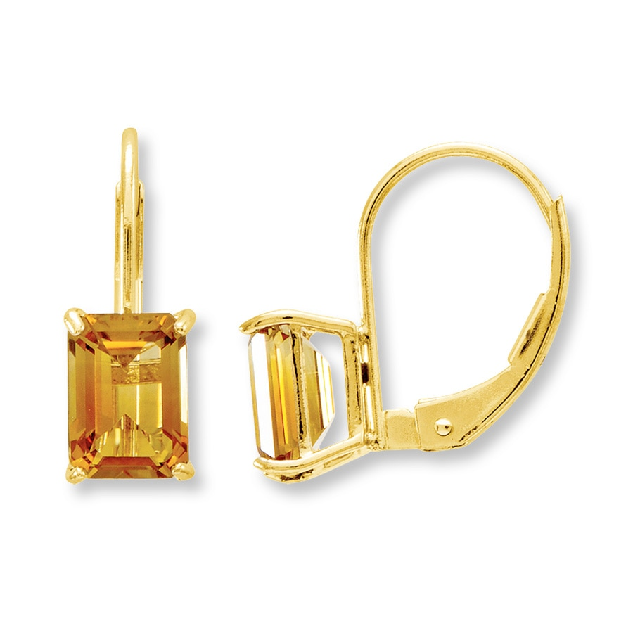 earrings collection prod yellow citrine sealeaf miseno mu p gold diamond