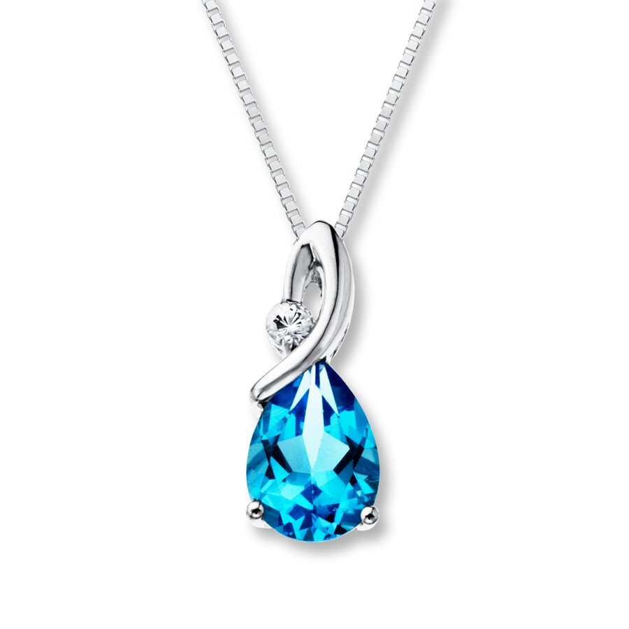 necklace and topaz diamond blue cluster en birks snowflake