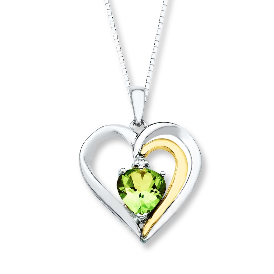 necklace gold collections birthstone close rose dainty teadrop august sterling genuine peridot products silver