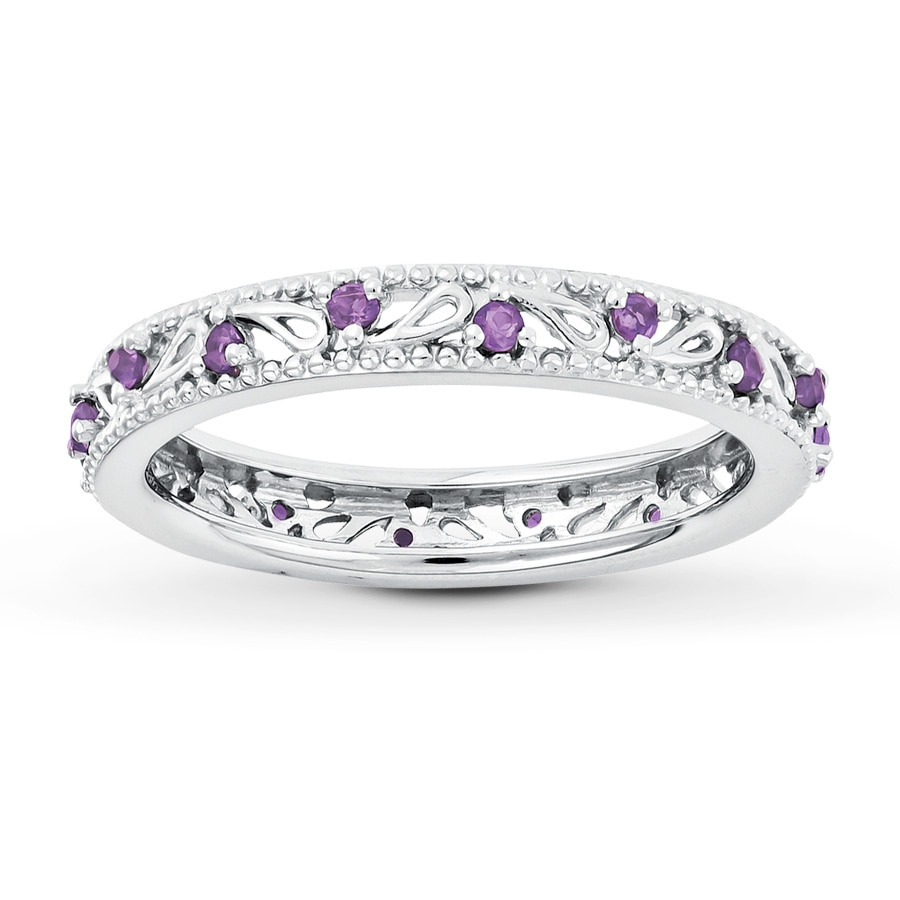 Jared Stackable Ring Amethyst Sterling Silver