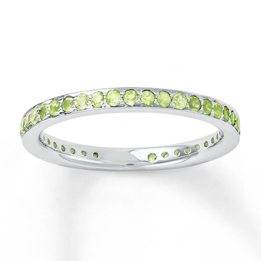 Jared Stackable Ring Peridots Sterling Silver
