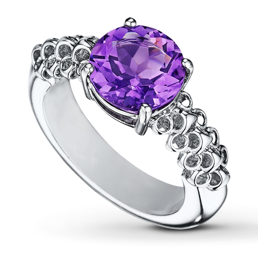 jared amethyst ring sterling silver