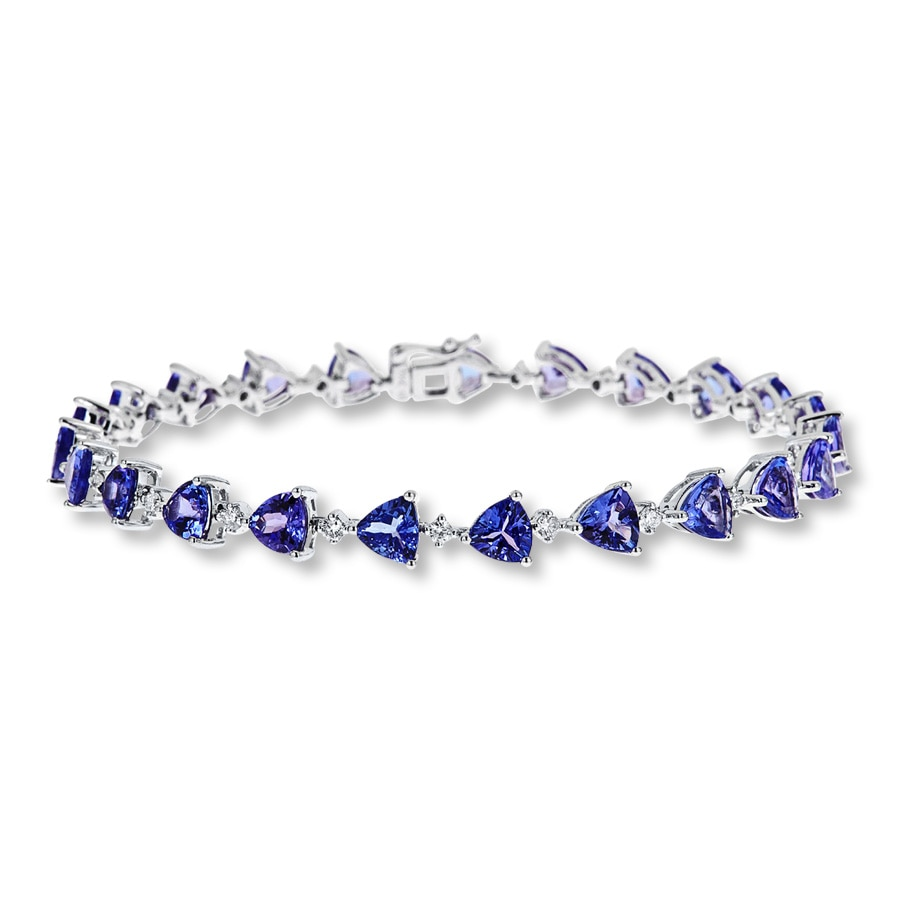 puff silver with sterling products tennis heart bracelet tanzanite charm