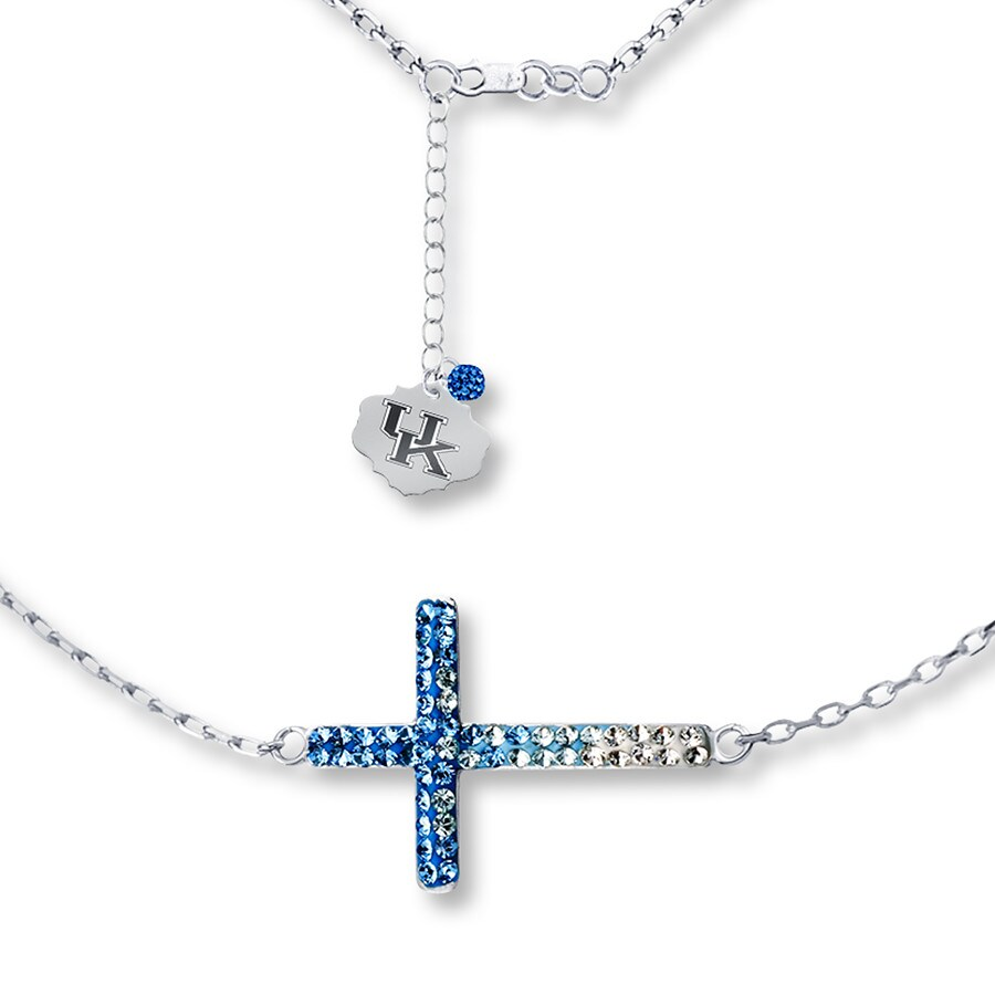 Jared university of kentucky cross necklace sterling silver for Jared jewelry lexington ky