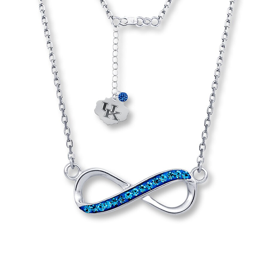 Jared university of kentucky infinity necklace sterling for Jared jewelry lexington ky