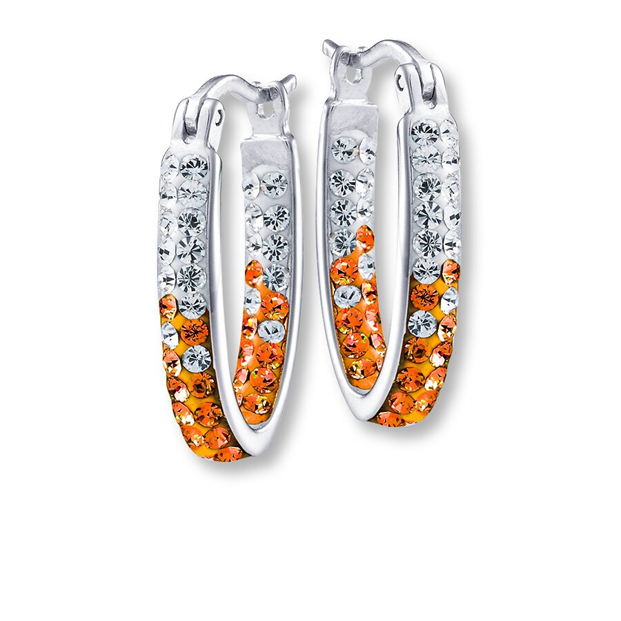 Jared syracuse university oval hoop earrings sterling silver for Jared jewelry lexington ky
