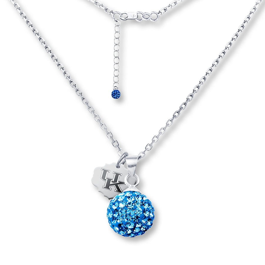 Jared university of kentucky sphere necklace sterling silver for Jared jewelry lexington ky
