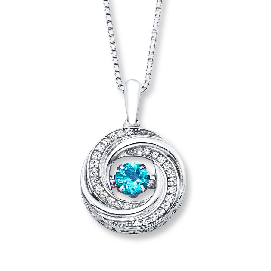 jared colors in rhythm necklace blue topaz sterling silver