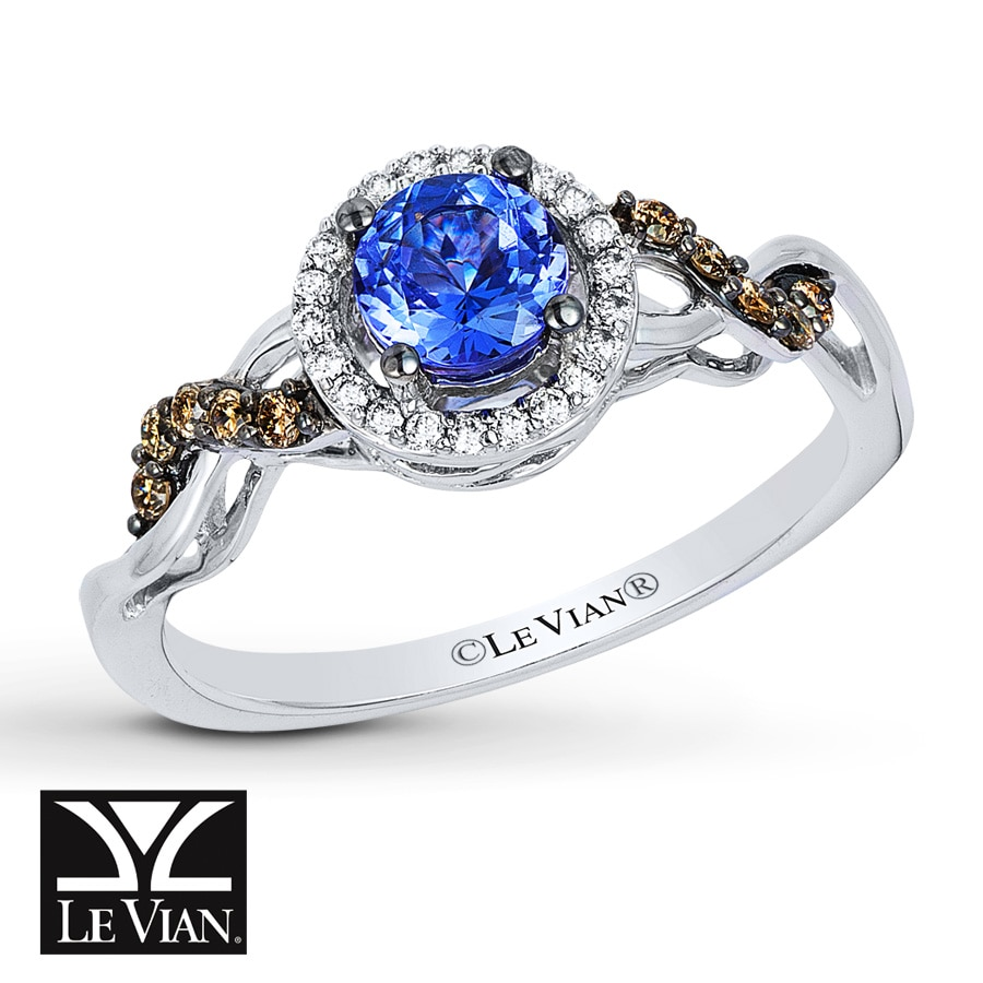 strawberry vanilla bluberry ring chocolate le with in gold and vian tanzanite diamonds tw