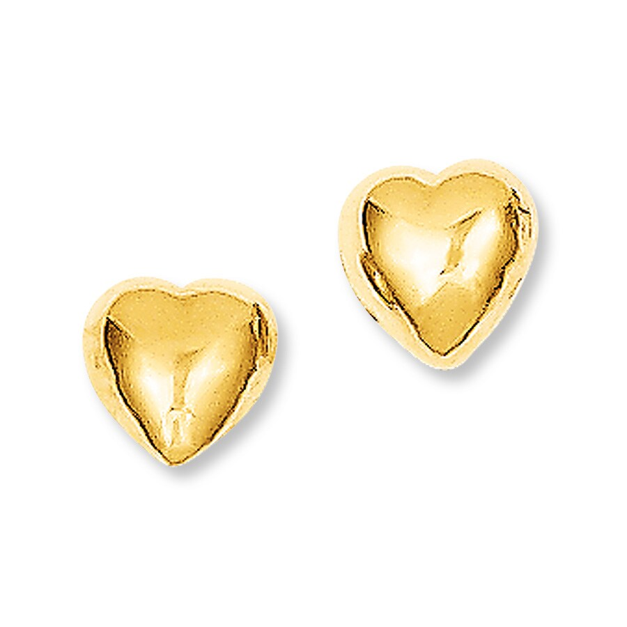heart earrings gold - photo #12
