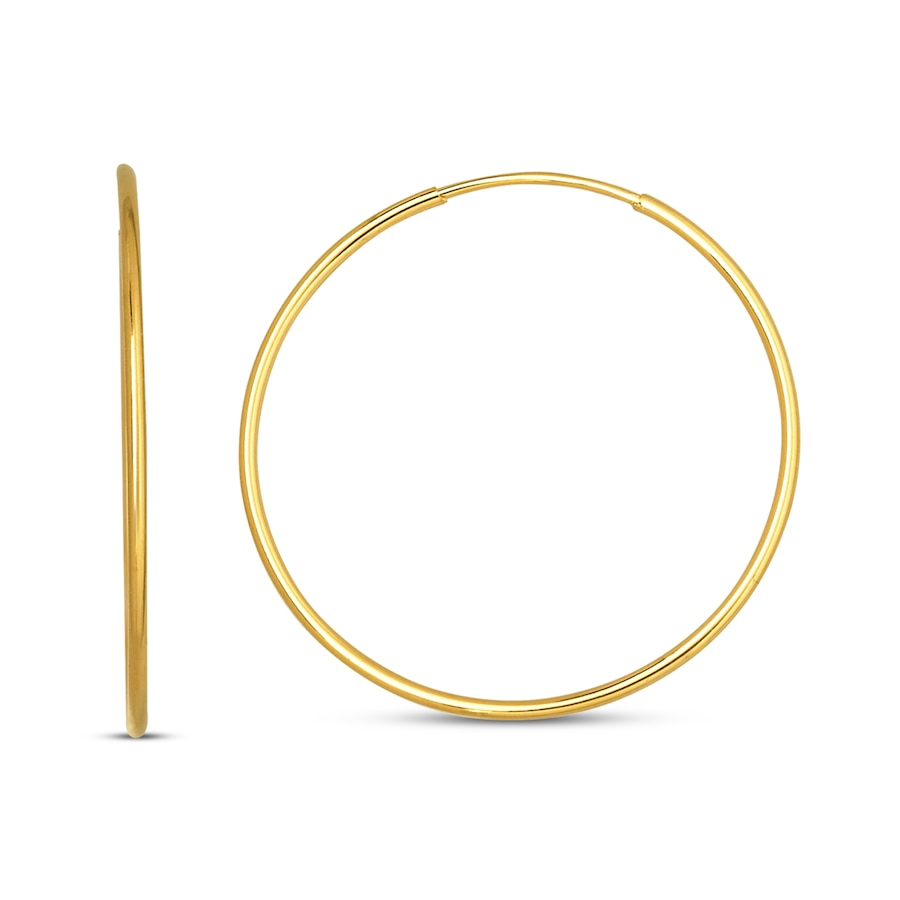 jared endless hoop earrings 14k yellow gold 21mm