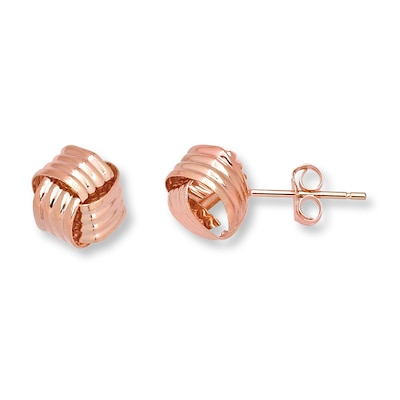 Love Knot Earrings 14K Rose Gold