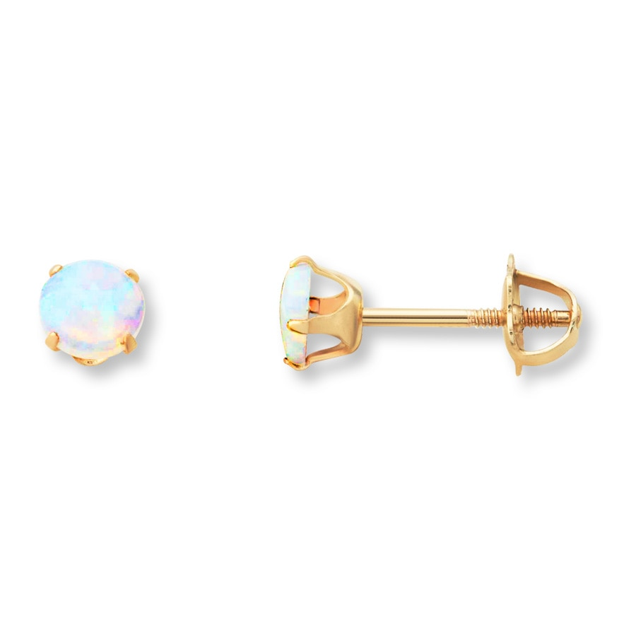 Jared  Children's Stud Earrings Labcreated Opal 14k. Cord Necklace. Blue Sapphire Bands. Swarovski Crystal Bracelet. Chains Beads. Named Lockets. Sideways Cross Bracelet. Hazy Diamond. Winged Pendant