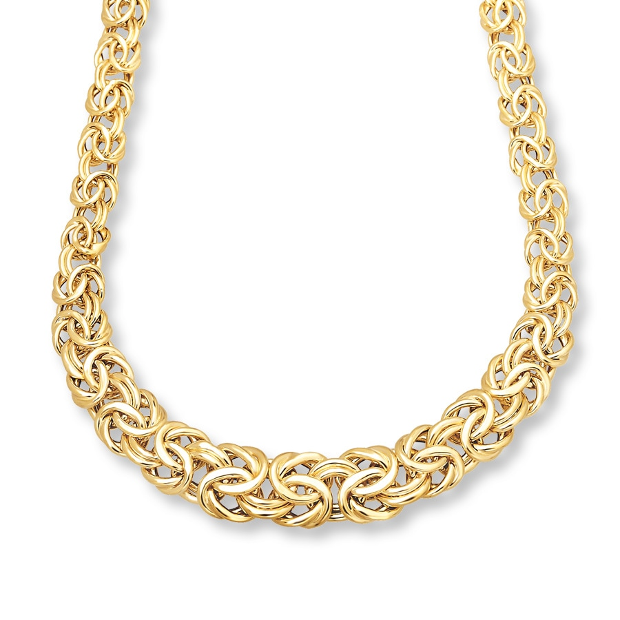 Jared Byzantine Necklace 14k Yellow Gold 17 Inch Length
