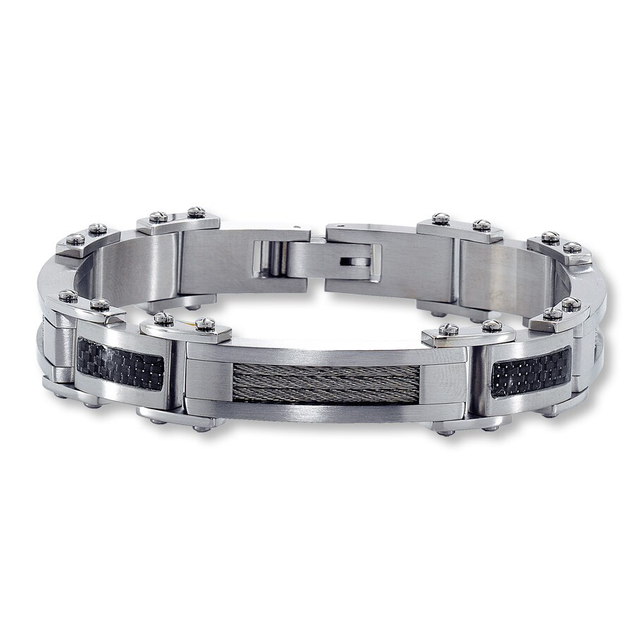 Stainless Steel Carbon Fiber Bracelet Tap To Expand