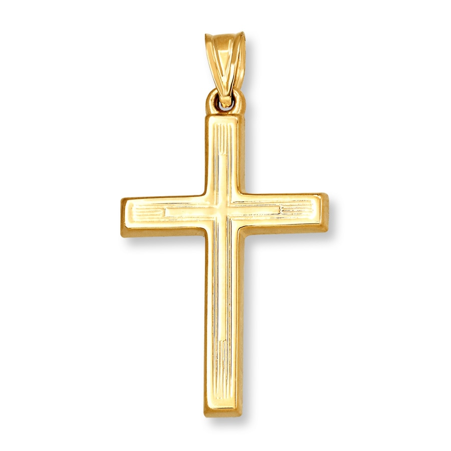 Cross Charm 14k Yellow Gold 431342409 Jared