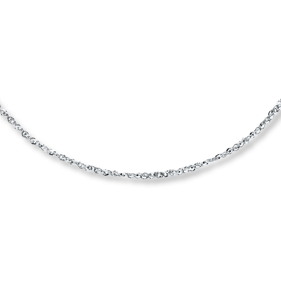 Jared sparkle chain necklace 14k white gold 20 length hover to zoom aloadofball Gallery