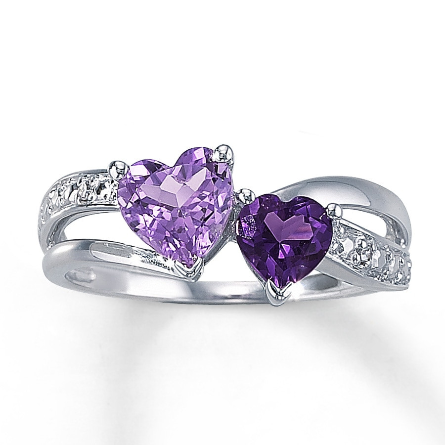 sterling zirconia in gold cut rings purple ring plated white amethyst cubic cushion over p silver