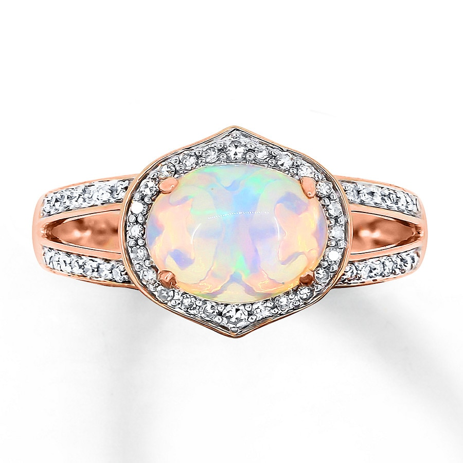 to for engagement pin opal australian on side elegant diamonds timeless the with white rings and a gorgeous bride an ring set unique be two option one natural either