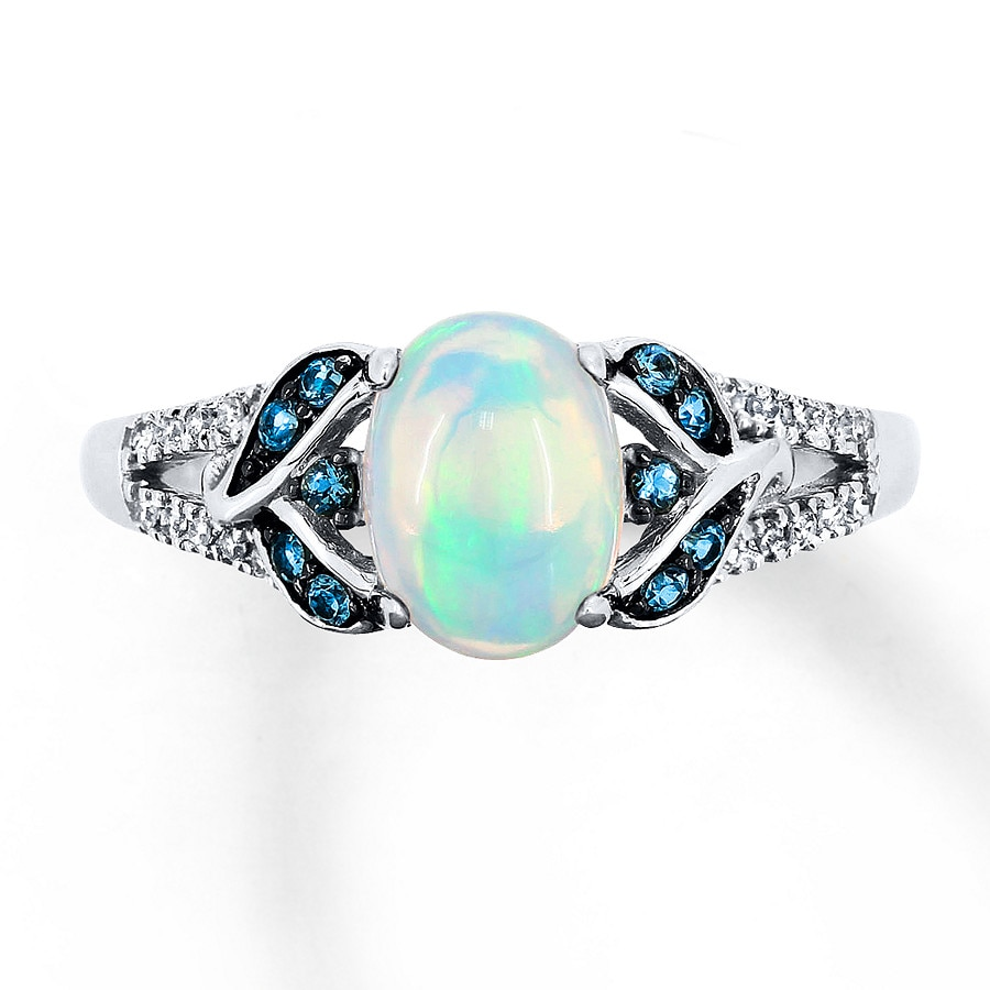 rings diamonds flashopal colorful diamond wedding engagement set ring opal natural gold