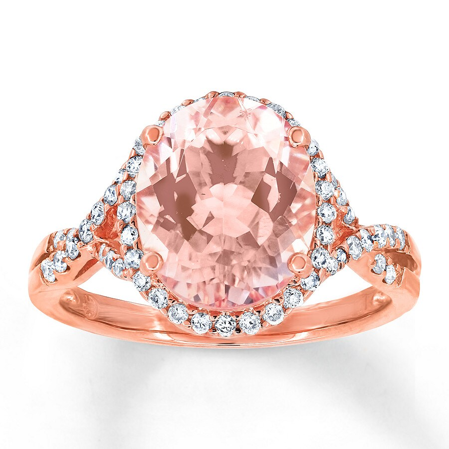 Morganite Ring 1/3 ct tw Diamonds 14K Rose Gold - 491142600 - Jared