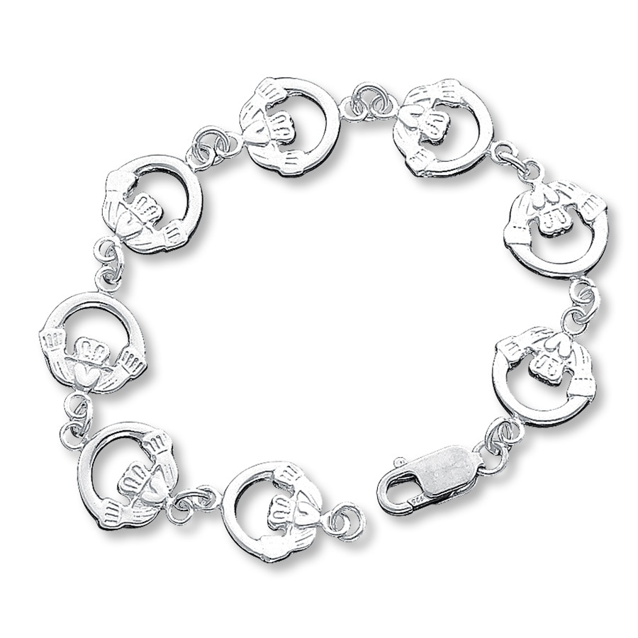 Sterling Silver Claddagh Bracelet Tap To Expand