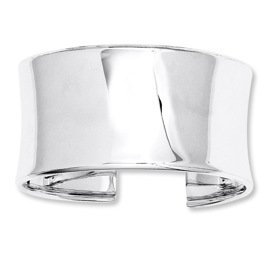 Cuff Bangle Bracelet: Wide Cuff Bracelet Sterling Silver