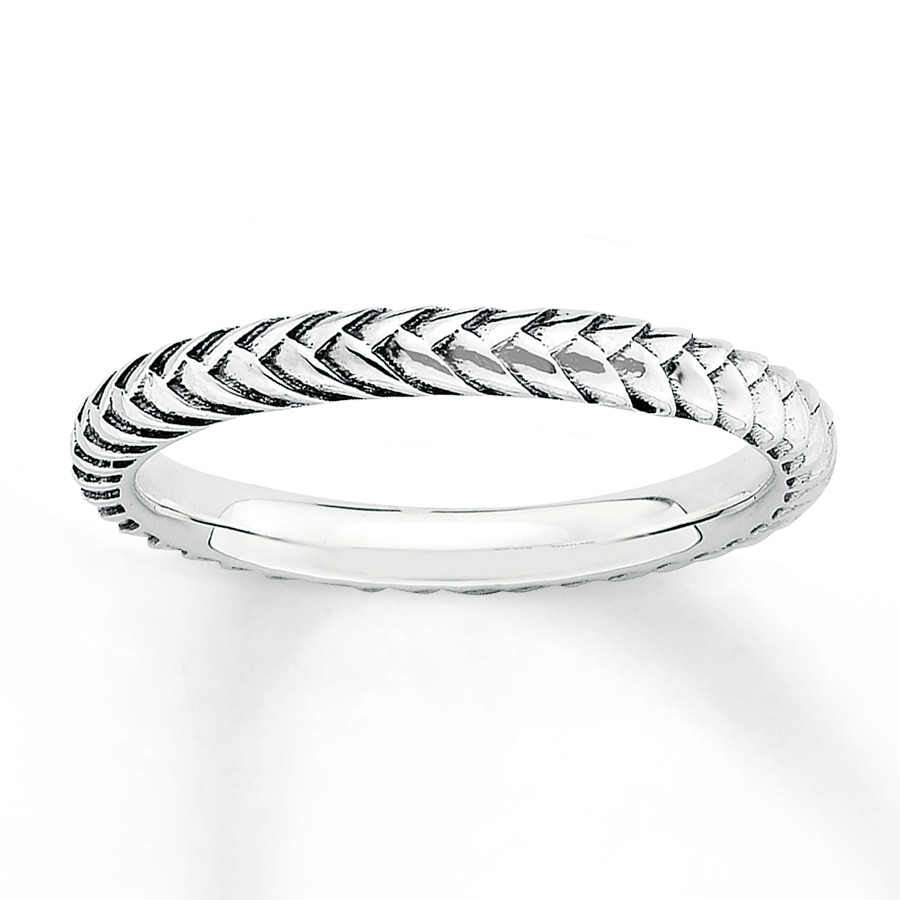 Jared Braided Stackable Ring Sterling Silver