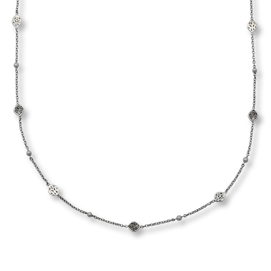 Jared Lois Hill Necklace Station Sterling Silver