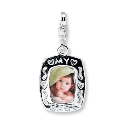 """My Baby"" Photo Frame Sterling Silver Charm"