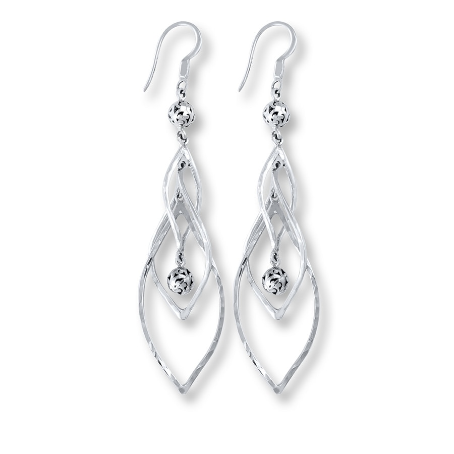 Jared Lois Hill Dangle Earrings Sterling Silver