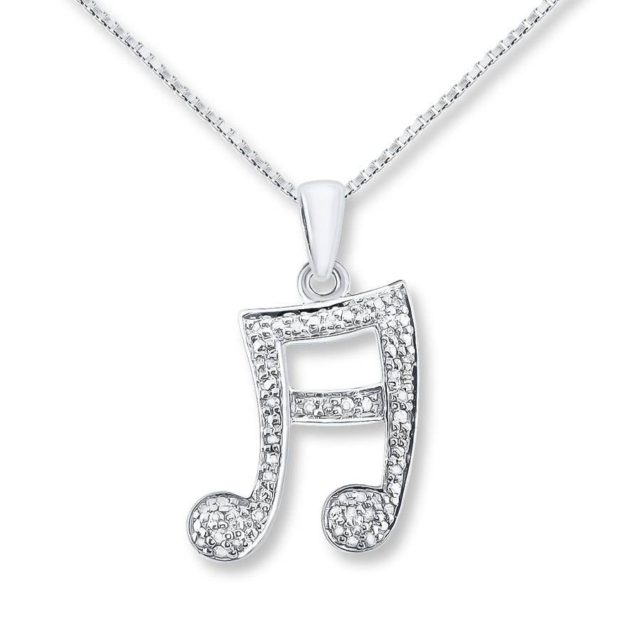 blue db musical sterling note diamond pendant over watches shipping orders free product silver heart necklace accent on overstock designs jewelry