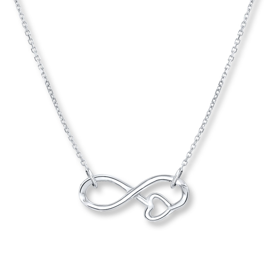 diamond zm hover silver sign en sterling infinity kaystore necklace zoom symbol mv to accents kay