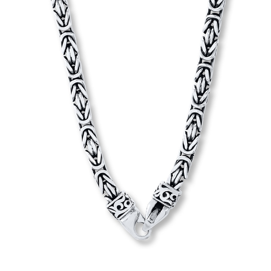 Jared Lois Hill Mens Necklace Sterling Silver