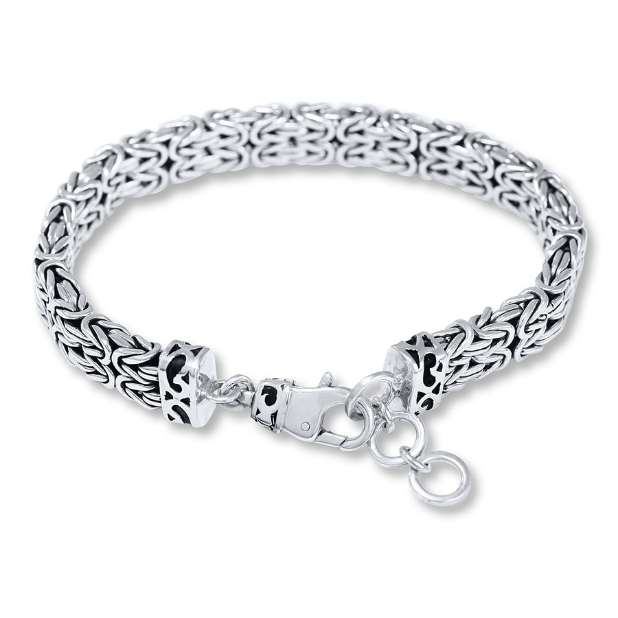 Jared Lois Hill Mens Bracelet Sterling Silver