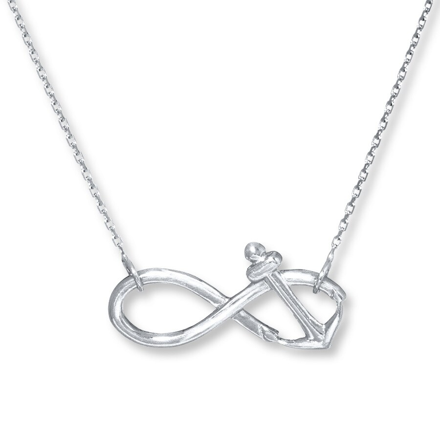 Jared infinity anchor sterling silver necklace hover to zoom buycottarizona Images