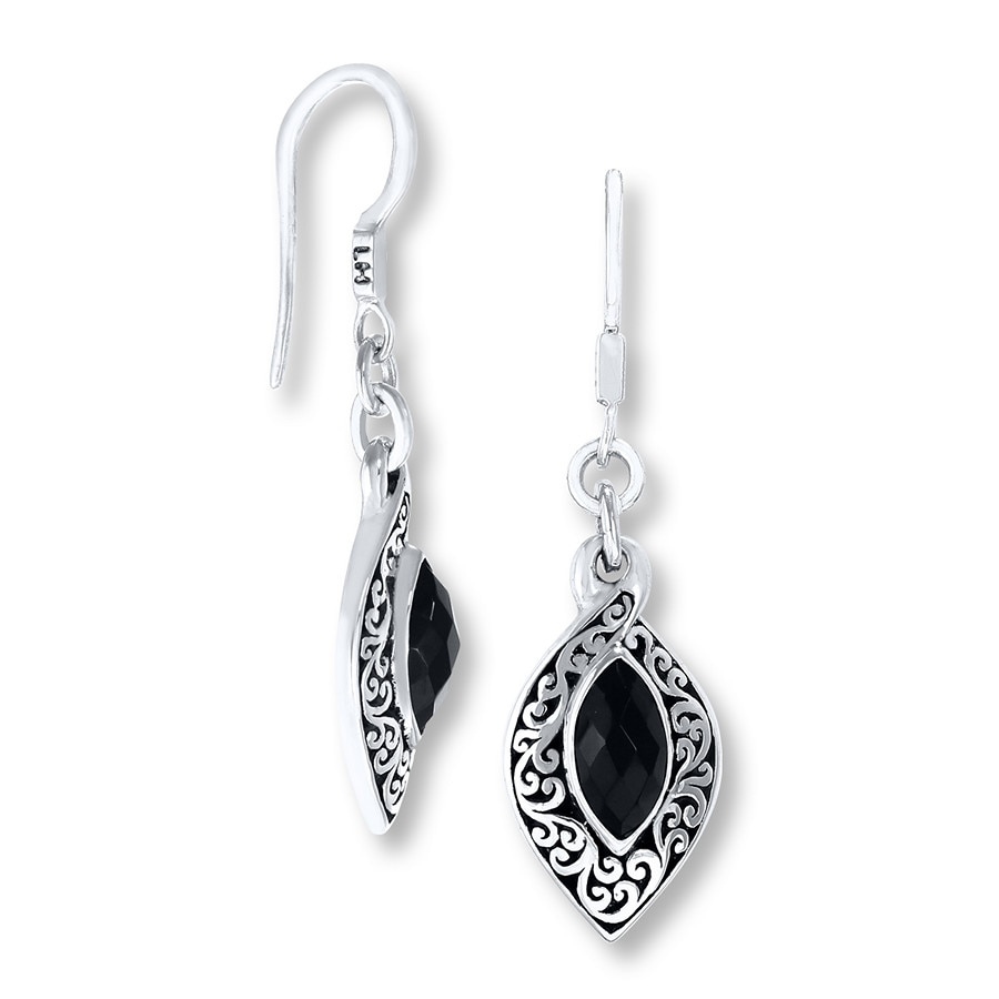Jared Lois Hill Earrings Onyx Sterling Silver