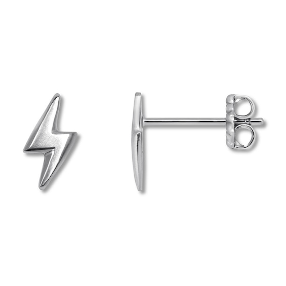 Alex Woo Mini Lightning Bolt Earrings Sterling Silver Jared